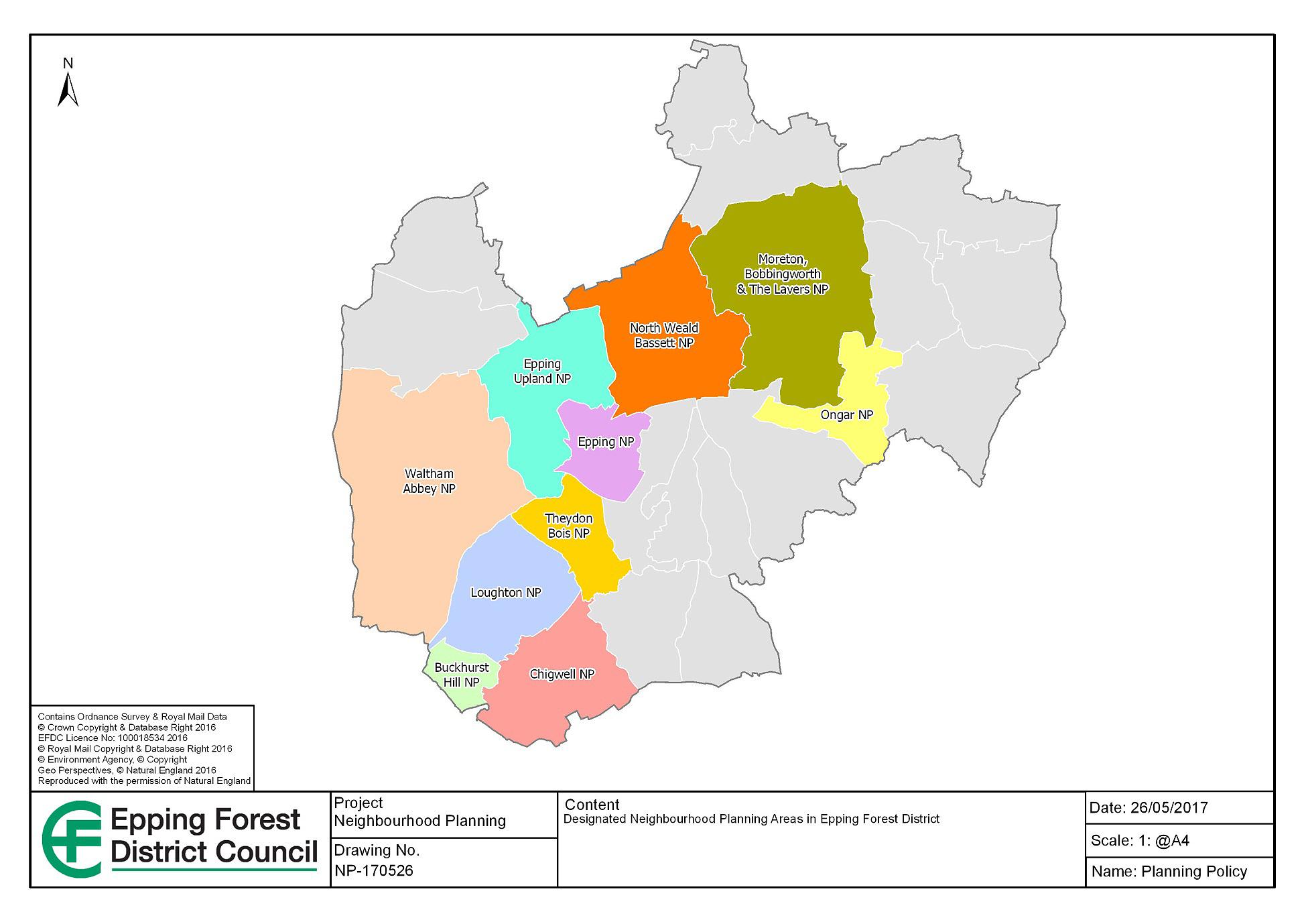Neighbourhood Plans map